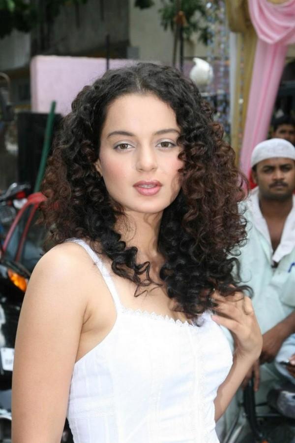 Curly Hair beauty kangana ranaut hot stills