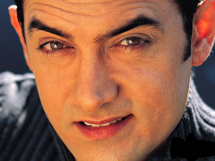 Aamir Khan sexy eyes look wallpaper