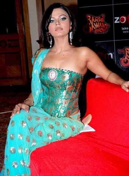 Rakhi sawant saree blue small