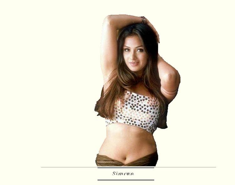 Simran spicy navel pose wallpaper