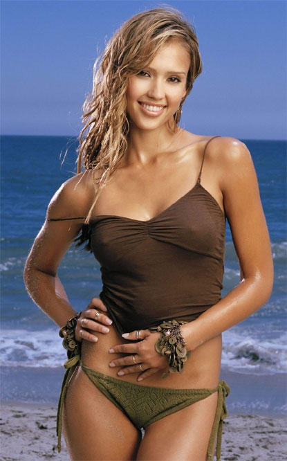 Jessica alba brown bikini dress photo