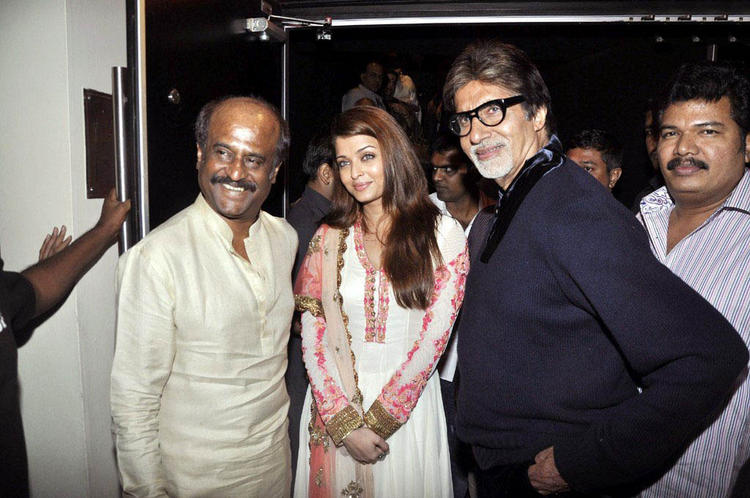 Amitabh and Aishwarya at Soundarya Rajnikanth wedding