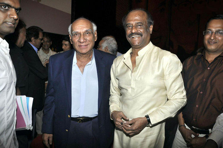 Yash Chopra at wedding of Soundarya Rajnikanth