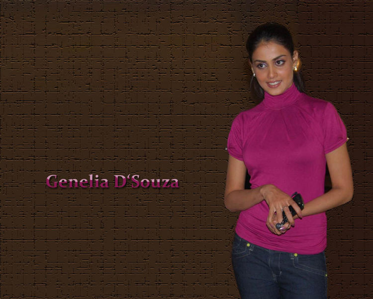 Genelia  D'souza cute hot wallpaper