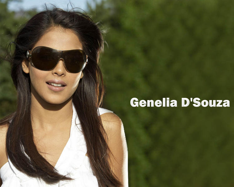Genelia  D'souza stylist look wallpaper