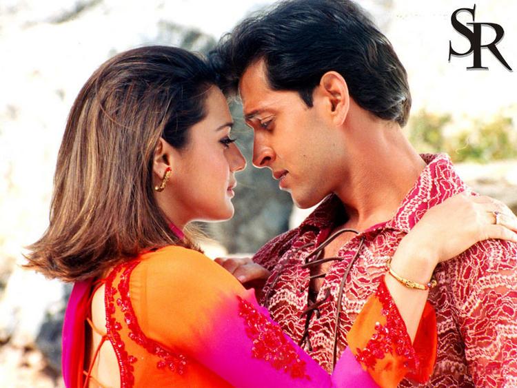 Hrithik Roshan and Preity Zinta romantic wallpaper