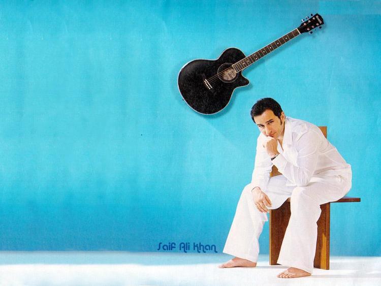Saif Ali Khan guitar wallpaper