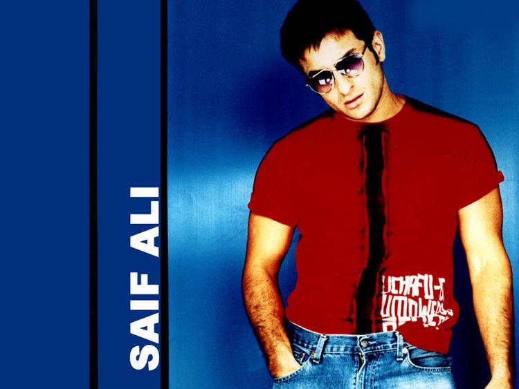Saif Ali Khan sexy pose wallpaper
