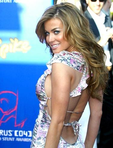 Carmen Electra backless dress sexy photo