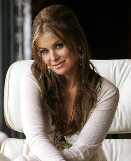 Carmen Electra white dress cute images