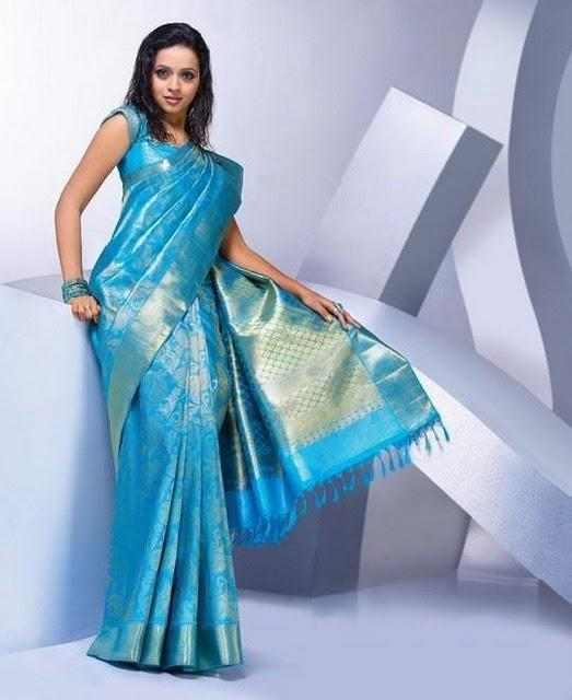 Bhavana traditional saree photo shoot