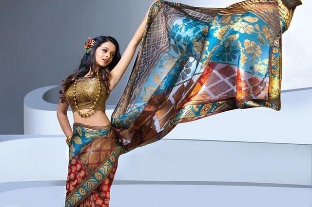 Bhavana saree hottest photo shoot
