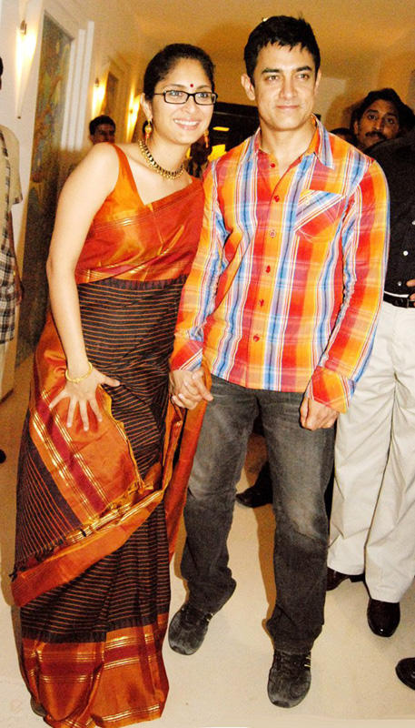 Aamir Khan with Kiran