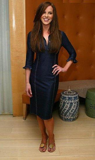 Kate beckinsale party black dress still
