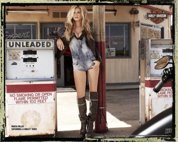 Marisa Miller Poses for Harley Davidson Spring  Ad