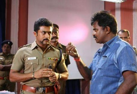 Surya  Sivakumar in singam police dress still