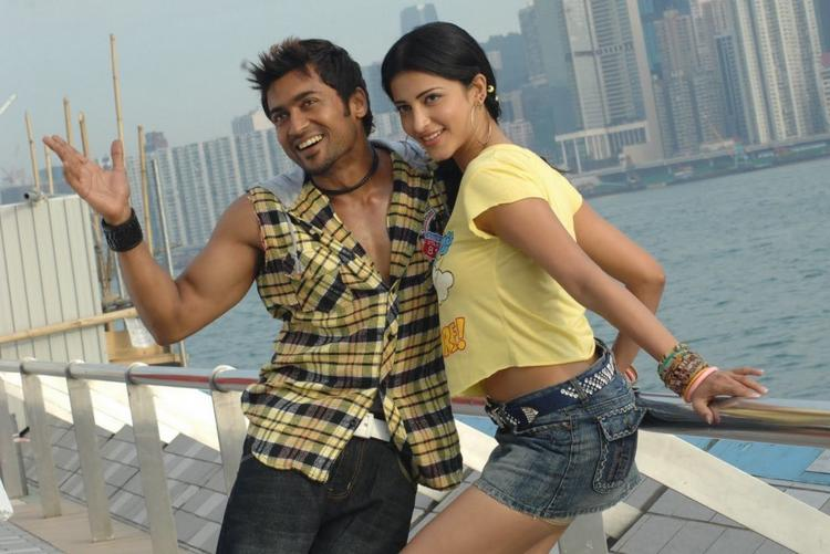 Shruthi Hassan with Surya in th Sense Photo