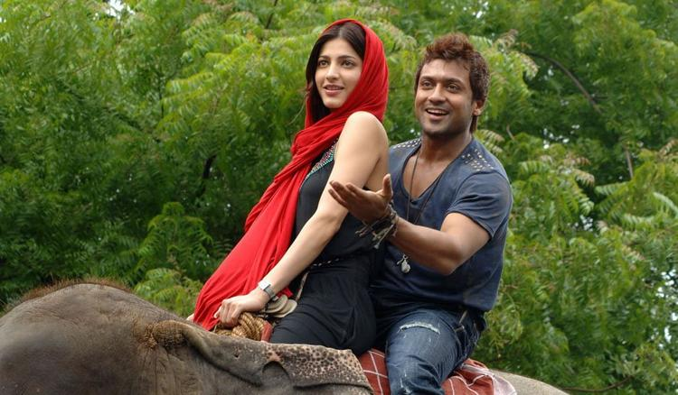 Shruthi Hassan with Surya in th Sense