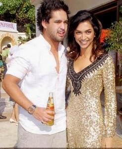 Deepika and Siddharth Mallya smilling face look