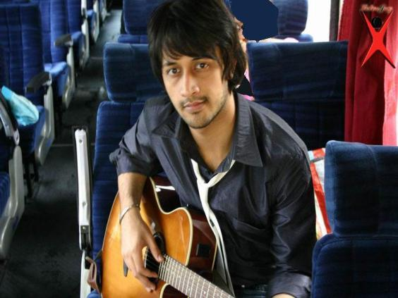 Singer Atif Aslam with Guitar