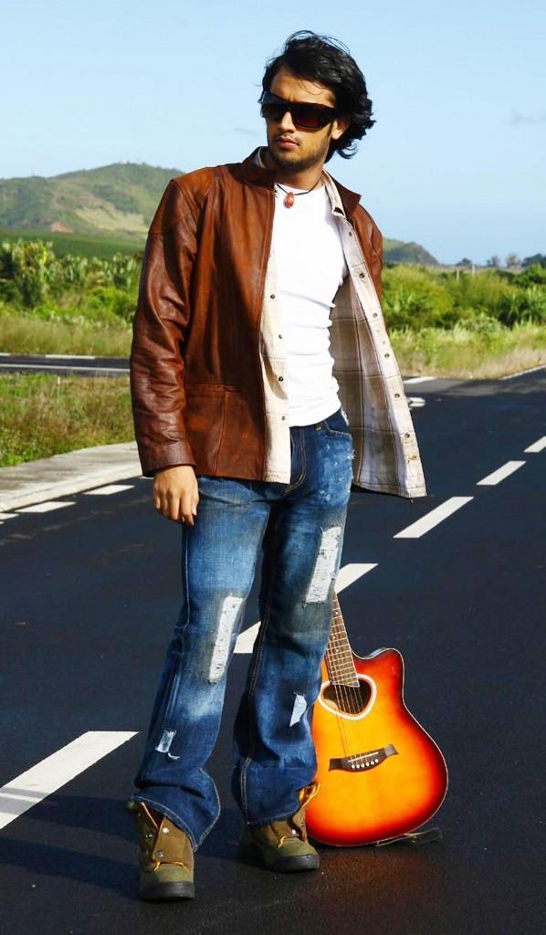 Atif Aslam with Guitar road still
