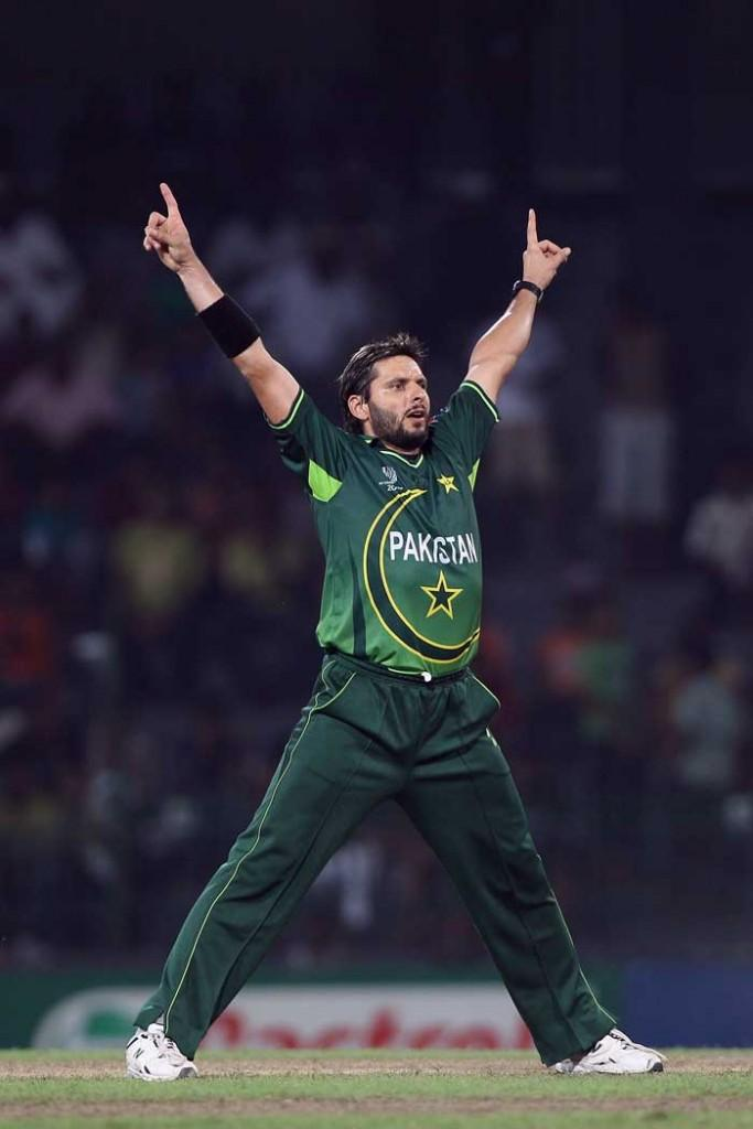 Cricket world cup top wicket taker pakistan Shahid Afridi wickets in place photo