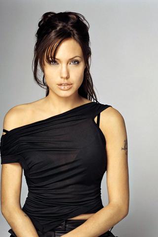 Angelina Jolie black color dress photo
