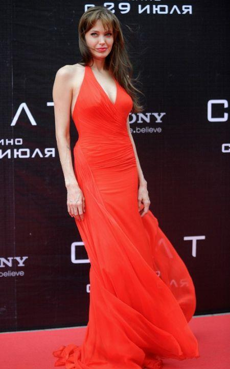 Angelina Jolie red dress hot photo