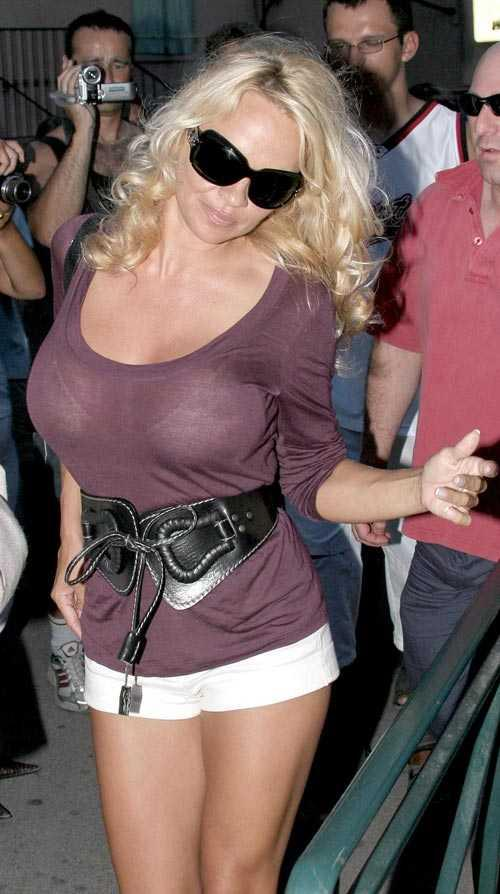 Pamela Anderson mini dress sexy photo