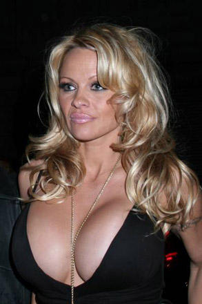 Pamela Anderson black dress hot photo