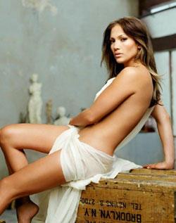 Jennifer Lopez without dress hot still