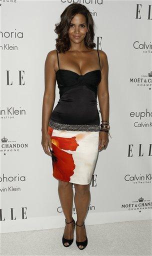 Sexiest woman Halle Berry top black dress still