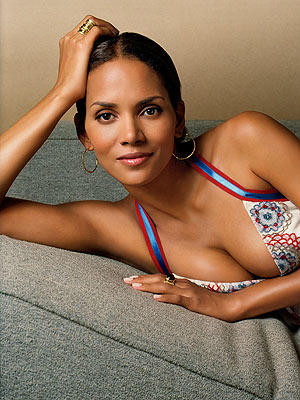 Halle Berry sexy cleavages spicy pose photo shoot