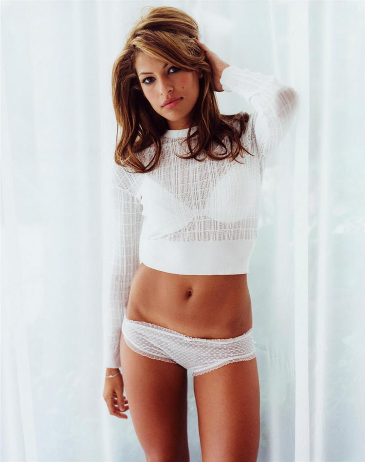 Eva Mendes two piece dress still