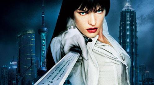 Milla Jovovich fight still