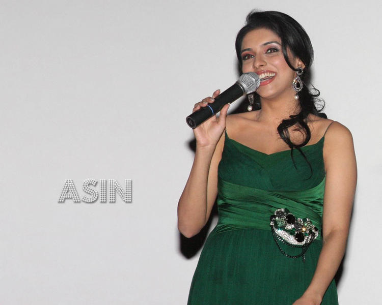 Asin Thottumkal green dress sweet wallpaper
