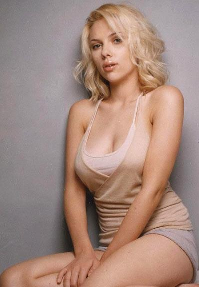 Hot Scarlett Johansson white hair still