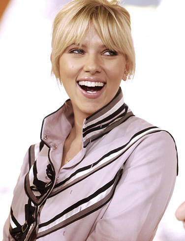 Scarlett Johansson open smile photo