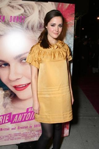 Rose byrne yellow color mini dress pics