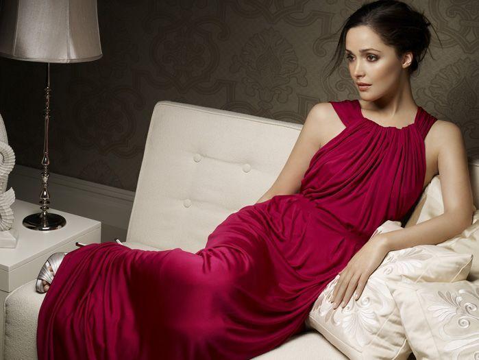 Rose byrne red romantic look still
