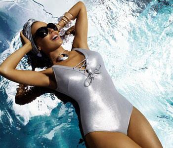 Kylie Minogue swimsuit dress hot still