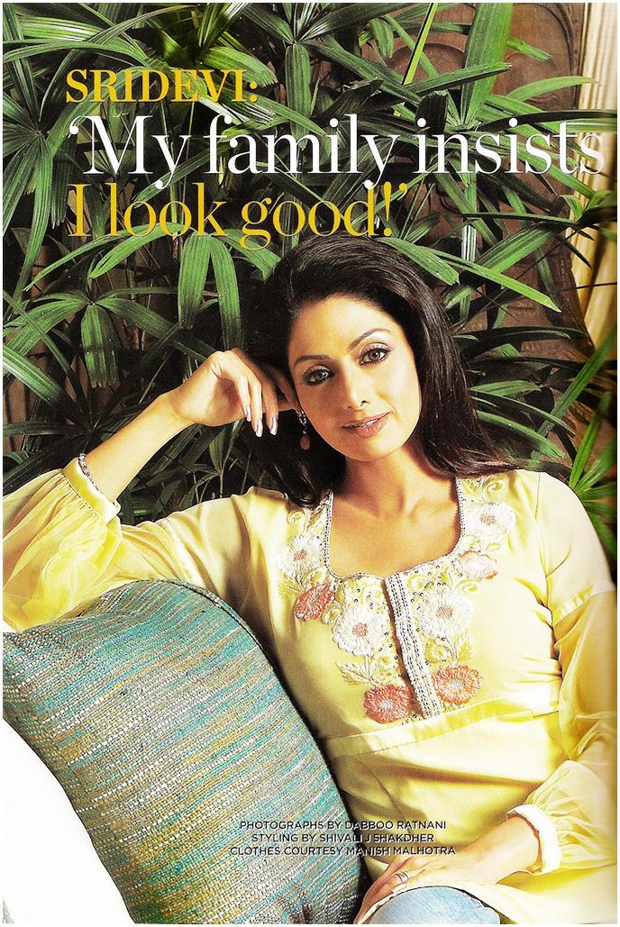 Sridevi kapoor magazine still