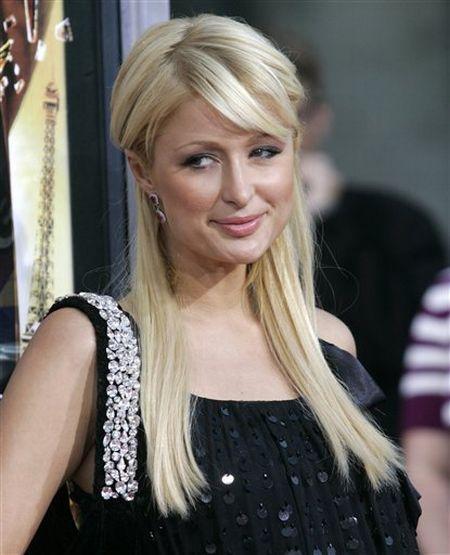 Paris Hilton black color dress cute photo