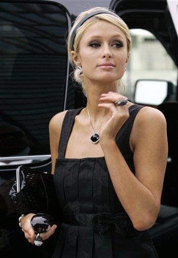 Paris Hilton formal hair style pic