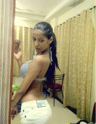 Poonam Pandey backless dress still