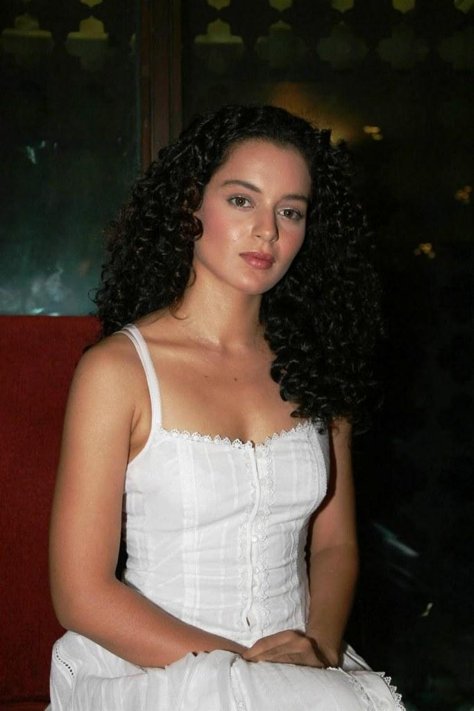 Kangana Ranaut white dress hot photo