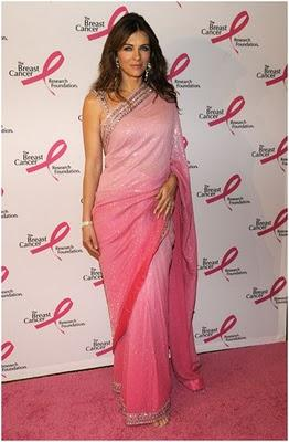 Elizabeth Hurley in saree awesome still