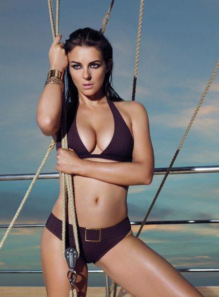 Elizabeth Hurley swimwear hot still
