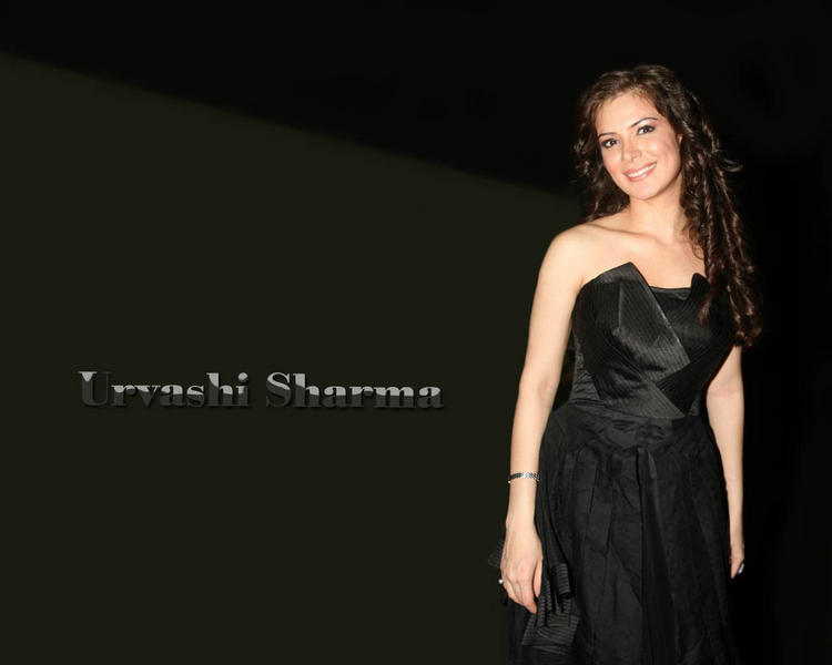 Urvashi Sharma black dress hair style wallpaper