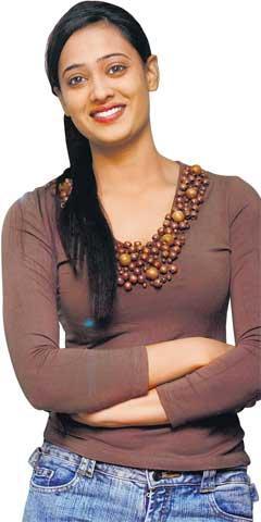 Shweta Tiwari with sweet smile